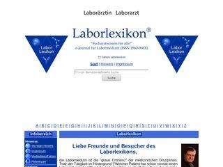 """Laborlexikon gemäß des Mottos: """"Facharztwissen für alle!"""""""
